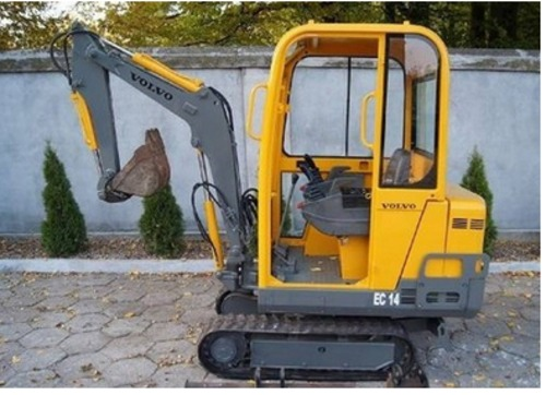 Product picture Volvo EC14 Compact Excavator Service Parts Catalogue Manual INSTANT DOWNLOAD SN 10151 - 21500, 21501 and up